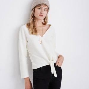 NWT Madewell Long Sleeve V Neck Blouse Small